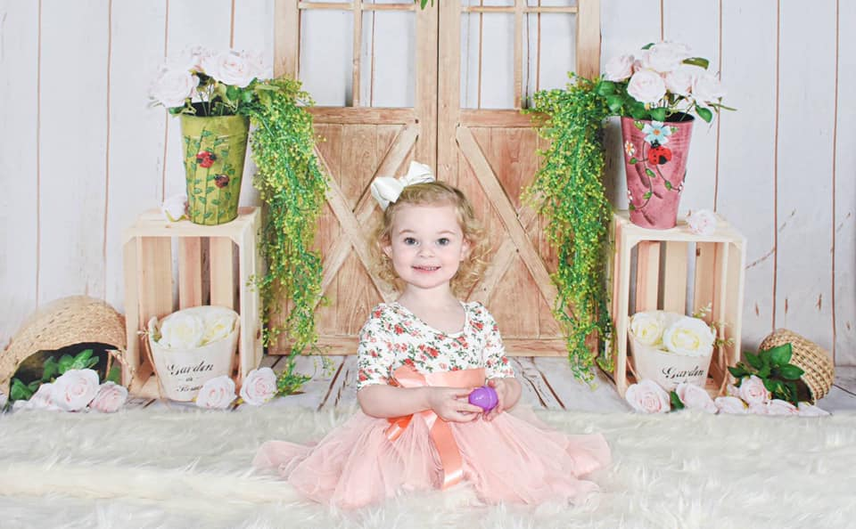 Load image into Gallery viewer, Kate Floral Barn Door Spring/Easter Backdrop Designed by Jia Chan Photography