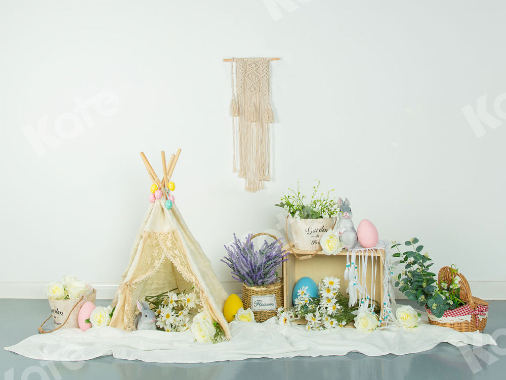 Spring\Easter Floral Egg Decoration Backdrop