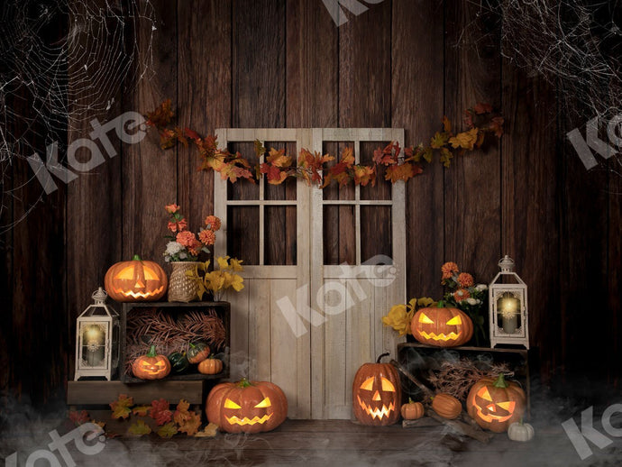 Kate Autumn/Thanksgiving Pumpkins Lights Backdrop Designed by Jia Chan Photography