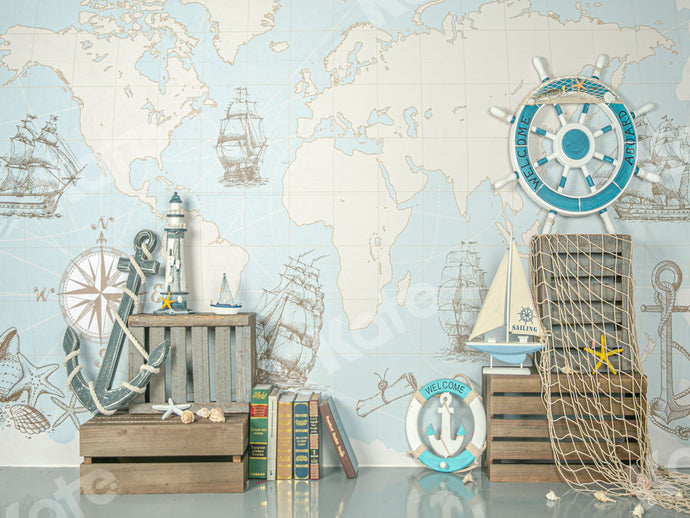 Kate Travel Around the World Summer Children Backdrop Designed by Jia Chan Photography