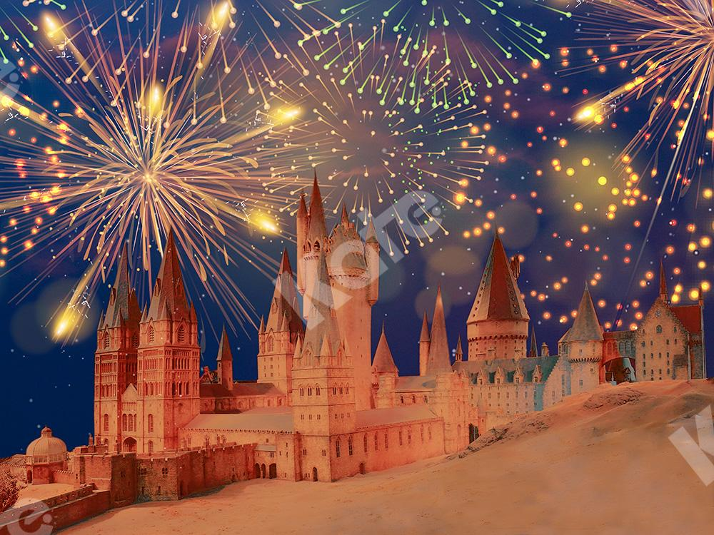 Kate Fairy Tale Backdrop Castle Fireworks Designed by Chain Photography