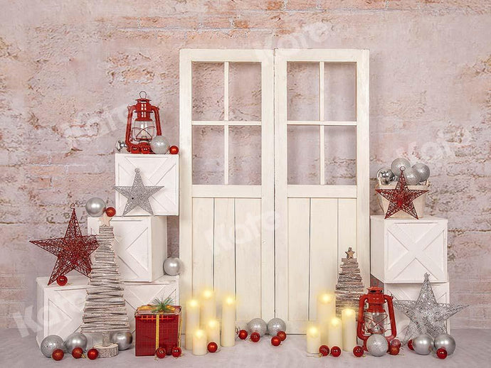 Kate Christmas White Door Backdrop Designed by Emetselch