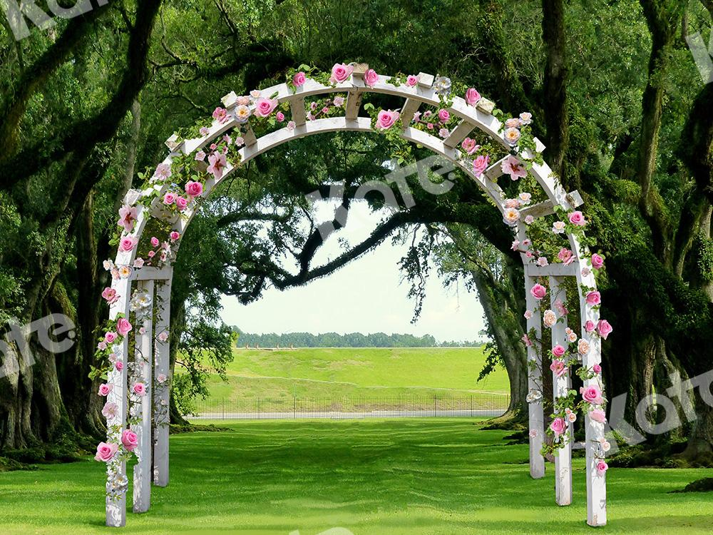 Kate Wedding Backdrop Garden Flowers Arch Designed by Chain Photography