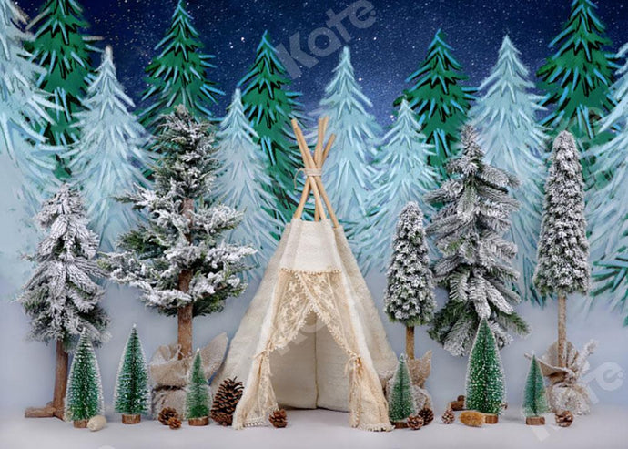 Kate Christmas Tree Tent Forest Backdrop Designed by Emetselch