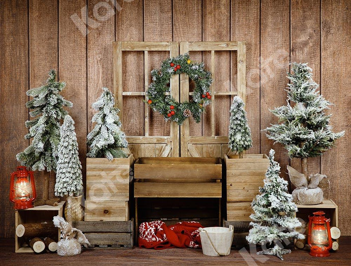 Kate Christmas Wood Door Backdrop Designed by Emetselch