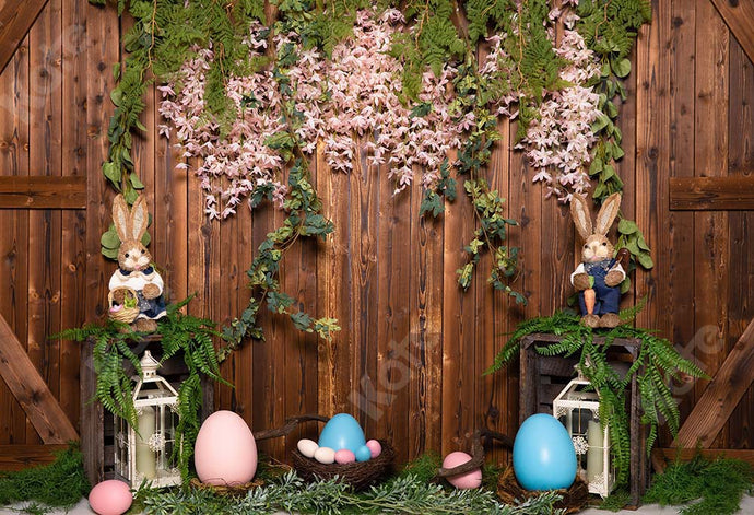 Kate Easter Egg Backdrop Wood Wall Designed by Emetselch