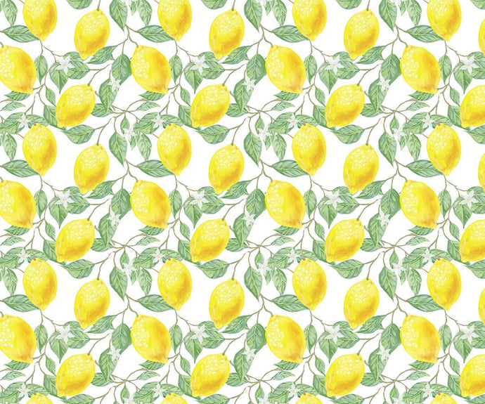 Kate Spring/Summer Yellow Fresh Lemons Backdrop Designed by Chain Photography