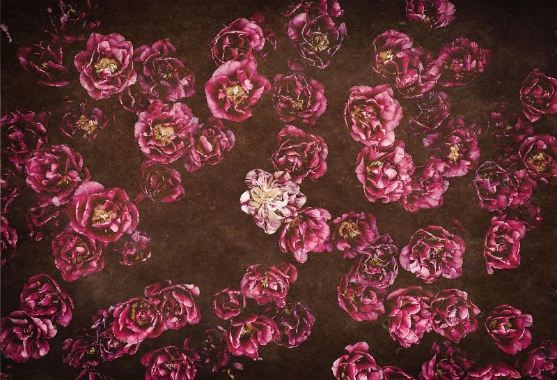 Load image into Gallery viewer, Kate Red retro Flowers Valentine's Day Backdrop for Photography designed by Jerry_Sina