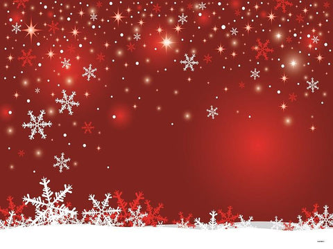 Katebackdrop:Kate Red Wall Background Snowflake Marry Christmas Backdrops