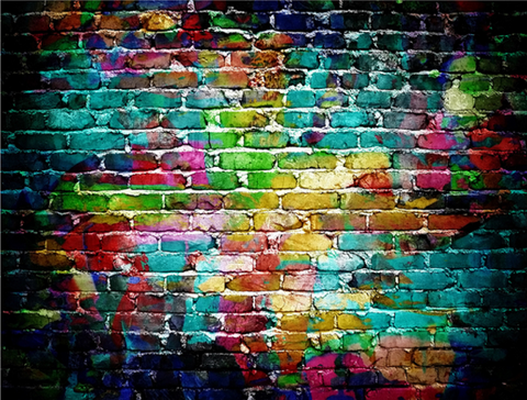 Kate Dark Colorful Brick Wall Background Backdrop for Photography