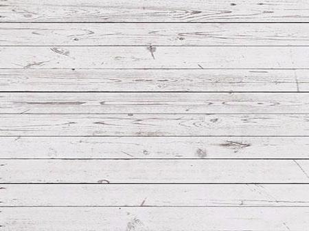 Kate Retro White Distressed Wood Rubber Floor Mat for Photo Stock