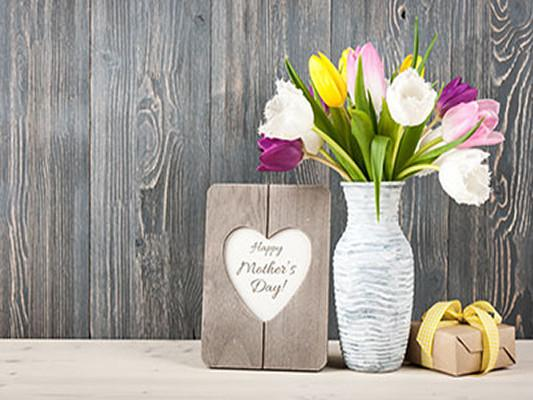 Katebackdrop Kate Gray Wooden Vase Floral Happy Mother's Day Background