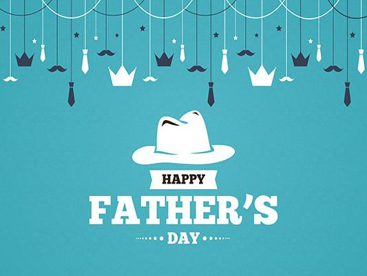 Kate Cartoon White Hat Blue Father's Day Background For Children Photography - Kate backdrops UK