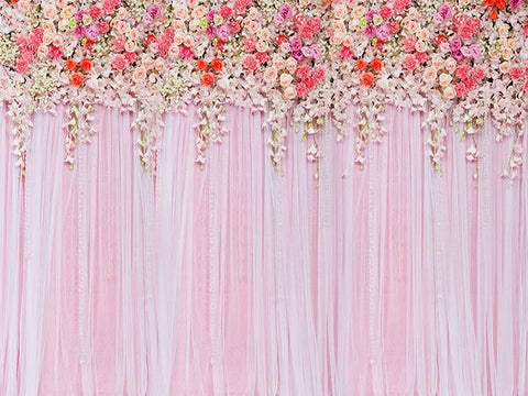 Kate Beautiful Flowers Wall Wedding Backdrop Photography Valentine's Day - Kate backdrops UK