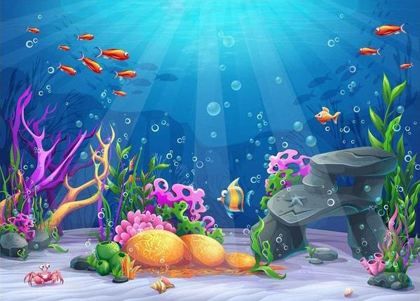 Load image into Gallery viewer, Kate Mermaid Underwater World Scene Backdrops for Photography
