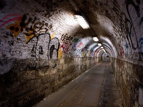 Katebackdrop:Kate Graffiti Wall Tunnel Light Backdrop For Photography