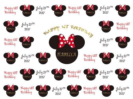Katebackdrop£ºKate Custom Birthday Baby Shower Mickey Mouse Photography Backdrop