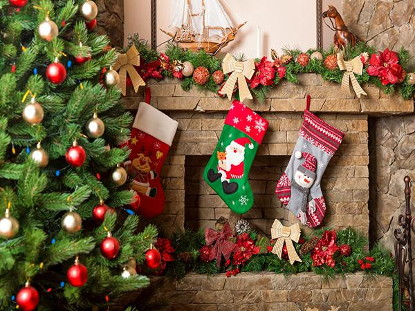 Load image into Gallery viewer, Kate Christmas Socks Decorations Background Photography Backdrop
