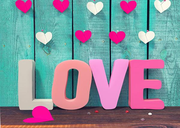 Load image into Gallery viewer, Kate Valentine'S Day  Wooden Wall Love Photography Backdrop