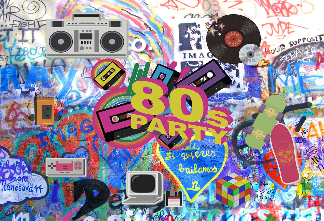 Kate 80's Party Backdrops for Photography - Kate backdrops UK