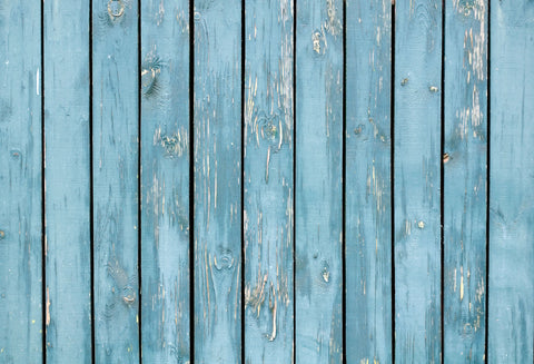 Kate Distressed Blue Wooden Floor Backdrop for Photography