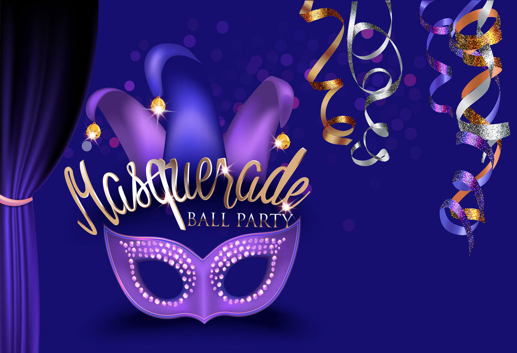 Kate Masquerade ball party purple Carnival Backdrops for Photography