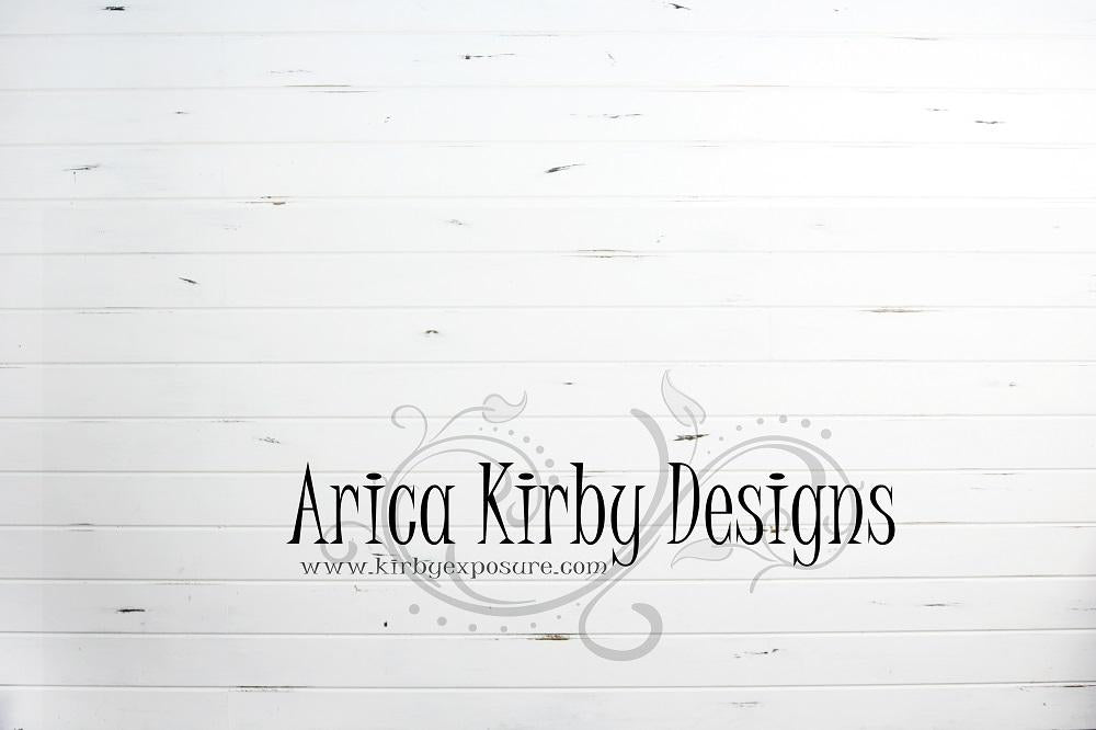 Load image into Gallery viewer, Kate Distressed White Shiplap Wood Backdrop designed by Arica Kirby