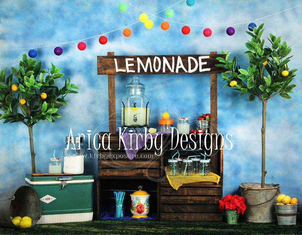 Load image into Gallery viewer, Kate When Life Gives You Lemons Summer Backdrop designed by Arica Kirby