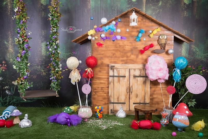 Kate Jungle Candy World Hourse Backdrop Fantasy forest designed by studio gumot