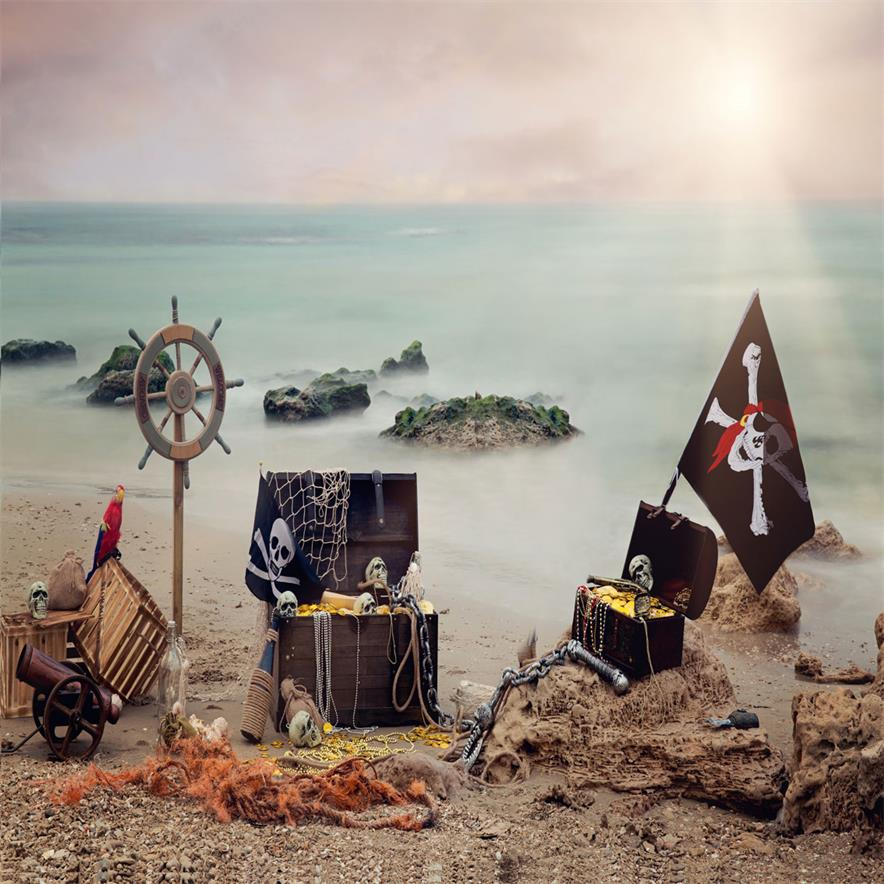 Load image into Gallery viewer, Kate Summer Sea Pirate backdrop designed by studio gumot