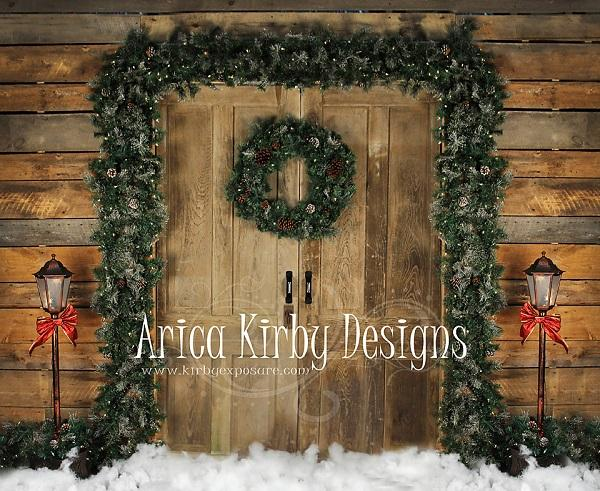 Load image into Gallery viewer, Kate Holiday Door Christmas Wreath designed by Arica Kirby