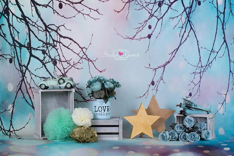 Kate Fantastic Christmas Bokeh Background With Decorations Backdrop for Photography designed by Studio Gumot