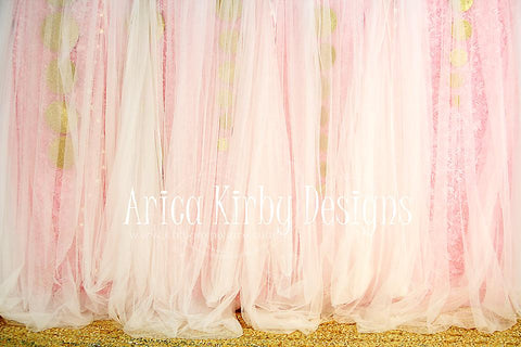 Kate Glitter Me Pink Backdrop for Photography designed by Arica Kirby