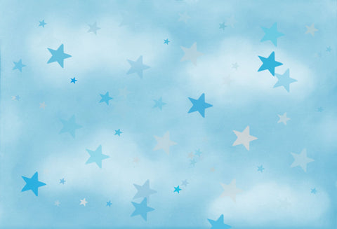 Kate Soft Skies Blue Stars Backdrop for Photography Designed by Mini MakeBelieve