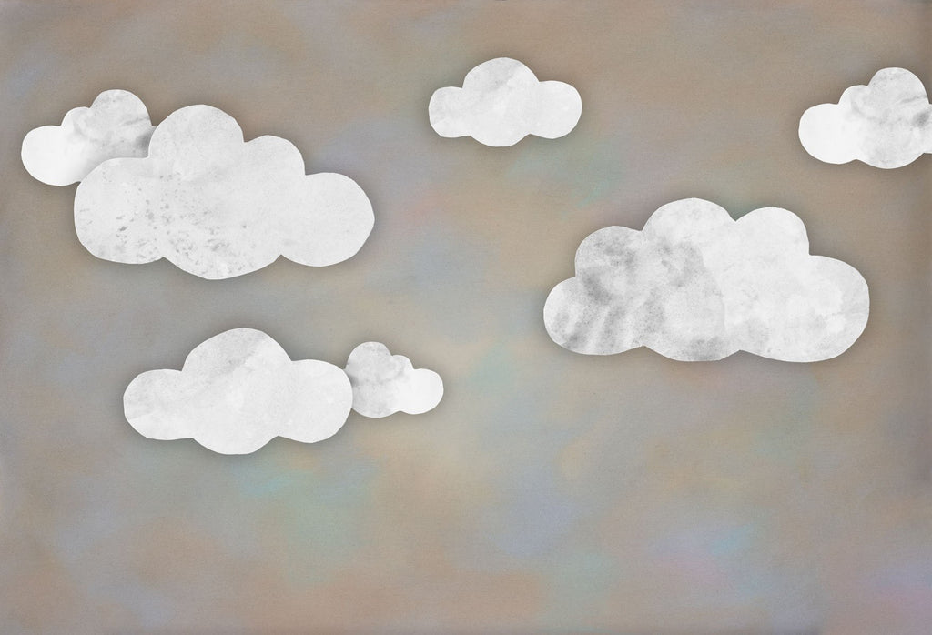 Kate Baby Shower Take Flight Clouds Backdrop for Photography Designed by Mini MakeBelieve - Kate backdrops UK