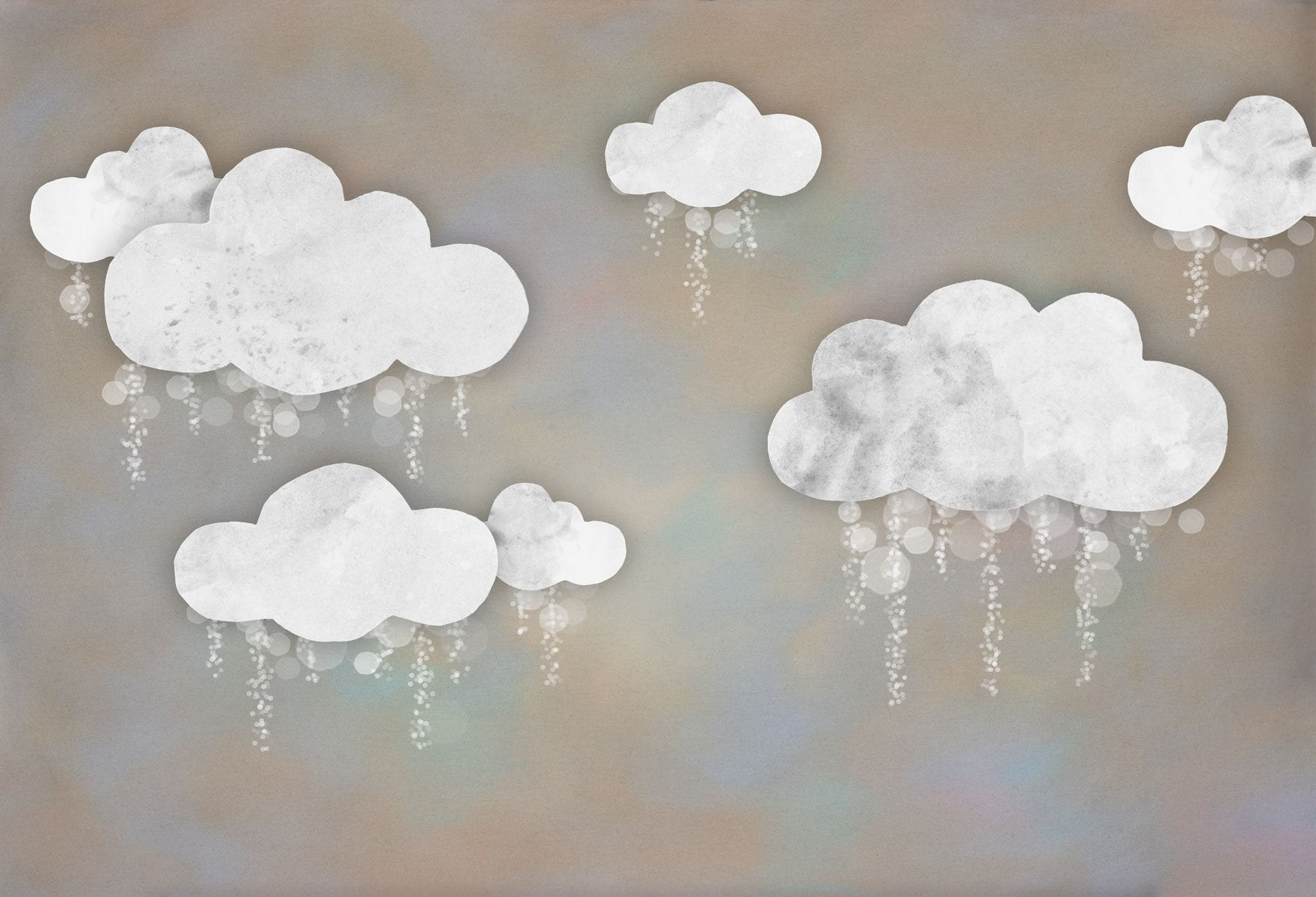 Load image into Gallery viewer, Kate Baby Shower Take Flight Winter Clouds Backdrop for Photography Designed by Mini MakeBelieve - Kate backdrops UK