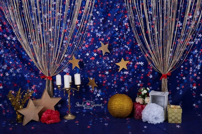 Load image into Gallery viewer, Kate blue red star backdrop for cake smash Backdrop designed by Studio Gumot - Kate backdrops UK