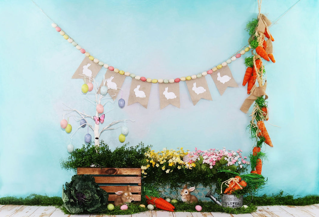 Kate Fairy Tale Flowers Decorations Easter Backdrop for Photography Designed by Leann West