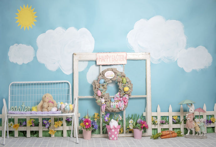 Kate Rabbits Decorations Easter Spring Children Backdrop for Photography Designed by Erin Larkins