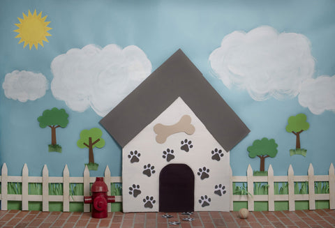 Kate Pet Park Sky and Clouds Spring Tree Children Backdrop for Photography Designed by Erin Larkins