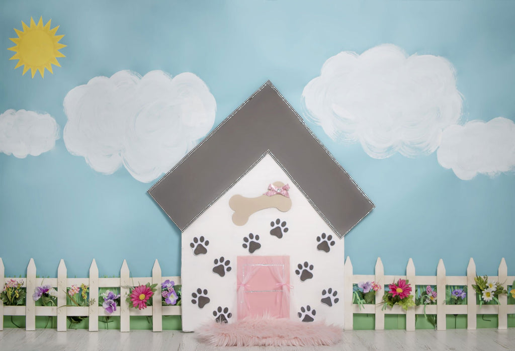 Kate Pet Park Flower Spring Children Backdrop for Photography Designed by Erin Larkins