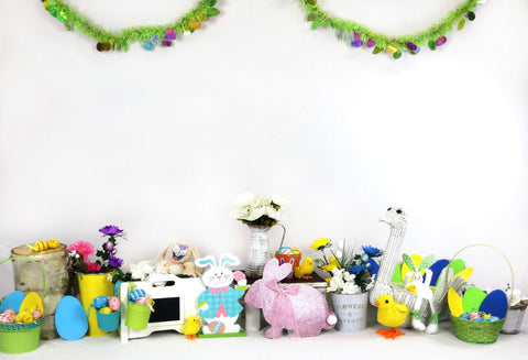 Kate Children's Paradise Rabbits Decorations Backdrop for Photography Designed by Amanda Moffatt