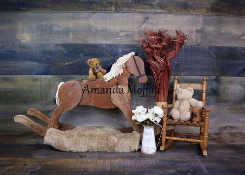 Load image into Gallery viewer, Kate Trojan and Teddy Bear Children Backdrop for Photography Designed by Amanda Moffatt