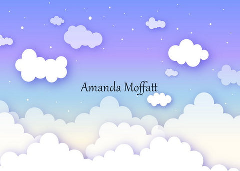 Kate Blue and Purple Sky Cloud  Backdrop for Children Photography Designed by Amanda Moffatt
