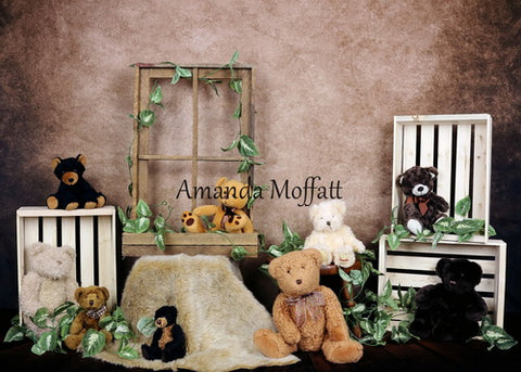 Kate Teddy Bear Children Backdrop for Photography Designed by Amanda Moffatt