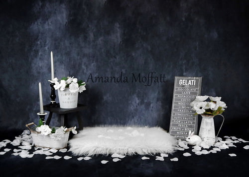 Load image into Gallery viewer, Kate Floral Evening with Petals Backdrop for Photography Designed by Amanda Moffatt
