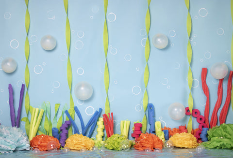 Kate Colorful Underwater World Children Summer Backdrop for Photography Designed by Erin Larkins