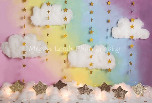 Kate Fantasy Background with Clouds Stars Backdrop for Photography Designed by Megan Leigh Photography
