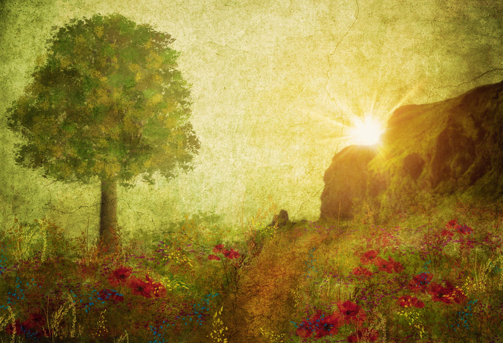 Load image into Gallery viewer, Kate Summer Painting Vintage Sunrise Backdrop for Photography Designed by Marina Smith