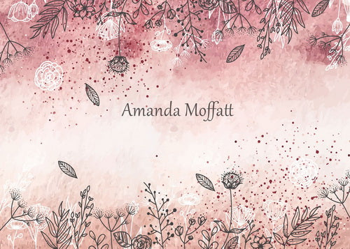 Kate Watercolour and Wildflowers Backdrop for Photography Designed by Amanda Moffatt
